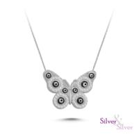 Silver & Silver Kelebek Nazar Kolye