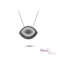 Silver & Silver Nazar Kolye
