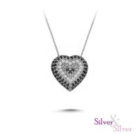 Silver & Silver Kalp Nazar Kolye