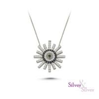 Silver & Silver Güneş Nazar Kolye