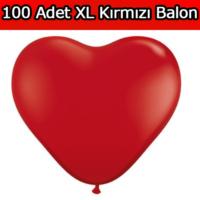 Chavin XL Sevgiliye Evlilik Teklifi 100 adet Kırmızı Kalp Balon