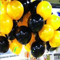 25 Adet 1. Sınıf XL Siyah-Gold Renk Balon mm19-25