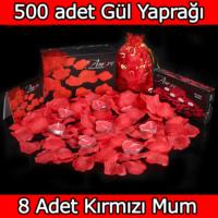 Chavin 500 Adet Gül Yaprağı, Gül Yaprakları, Kırmızı Mum yap3