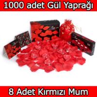 Chavin 1000 Adet Gül Yaprağı-Gül Yaprakları-Kırmızı Mum yap4