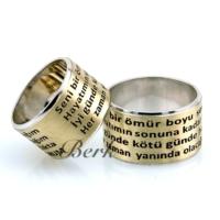 Berk Kuyumculuk Gümüş Alyans 5625 (Çift)