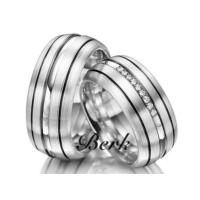 Berk Kuyumculuk Gümüş Alyans 5638 (Çift)