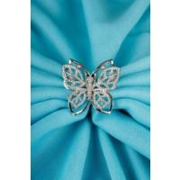 Çınar E-Ticaret Gümüş Kelebek Tasarımlı Parlak Taşlı Bayan Broş