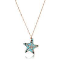 Pırlanta hediyeler Pırlanta Deniz Yıldızı Kolye