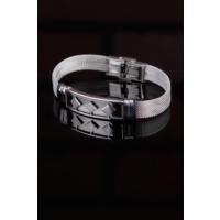 Çınar E-Ticaret Gri Renk Silver Renk Çelik Kare Şekil Tasarımlı Erkek Bileklik