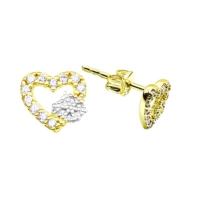 Melis Gold Altın Kalpli Küpe Kp000162