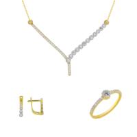 Melis Gold Altın Taşlı Set As000036