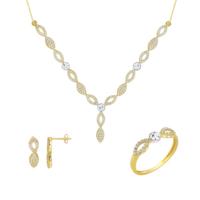 Melis Gold Altın Taşlı Set As000037