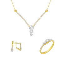 Melis Gold Altın Taşlı Set As000038