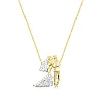 Melis Gold Gümüş Gelin & Damat Kolye Gkly0021