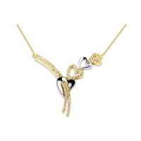Melis Gold Gümüş Kalpli Gerdanlık Kolye Gkly0051