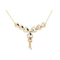 Melis Gold Gümüş Kalpli Gerdanlık Kolye Gkly0054
