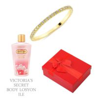 Melis Gold Altın Tamtur Yüzük Hp0143 + Victoria'S Secret Body Losyon