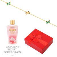 Melis Gold Altın Kelebek Bileklik Hp0152 + Victoria'S Secret Body Losyon