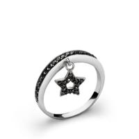 Ejoya Yıldız Gümüş Şans Yüzük 9
