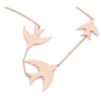 Affix Silver Gümüş 3'Lü Rose Kuş Kolyesi