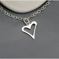 Crystal Baby Gümüş Özel Tasarım Farklı Kesim Kalp Kolyesi