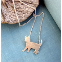 Crystal Baby Gümüş Özel Tasarım Yavru Kedi Kolyesi