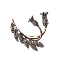 Aşina Gümüş Çift Lale Elmas Montür Broş Muhteşem Yüzyıl Hurrem Harem Serisi