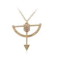 Eros Aşk Tanrısı Kristal Taşlı Zincir Moda Kolye