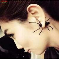 Yeni Moda Takı Punk Tarz Siyah Örümcek Küpe