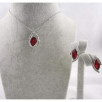 Kırmızı Taşlı Kolye ve Küpe Takı Setleri En Güzel Bayan Kolye Modelleri