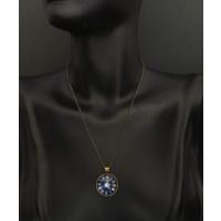 Myfavori Yeni Moda Cabochon Takı Antika Gümüş Alaşımlı Galaxy Saat Desenli Kolye