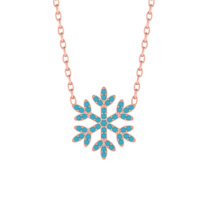 Diamood Jewelry Gümüş Firuze Taşlı Kar Tanesi Kolye