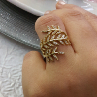 AltınSepeti Altın Yaprak Yüzük AS185YZ