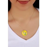 Çınar E-Ticaret Trend Ağlayan Kadın Emoji Kolye