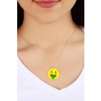 Çınar E-Ticaret Dolar Detaylı Emoji Kadın Kolye