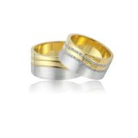 Allegro Gold El İşi Gümüş Çift Alyans AG0005
