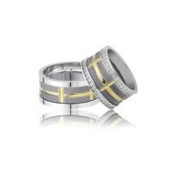 Allegro Gold El İşi Gümüş Çift Alyans AG0018