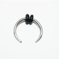 Cadının Dükkanı 316L Cerrahi Çelik Gümüş Rengi Hilal Kulak Piercing
