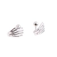 Cadının Dükkanı 316L Cerrahi Çelik İskelet Eli Kulak Piercing