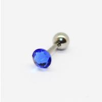 Cadının Dükkanı 316L Cerrahi Çelik Mavi Taşlı Kulak Piercing