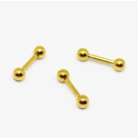 Cadının Dükkanı 316L Cerrahi Çelik Sarı Toplu Kulak Piercing