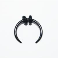 Cadının Dükkanı 316L Cerrahi Çelik Siyah Hilal Kulak Piercing