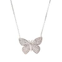 Else Silver Beyaz Kelebek Kolye