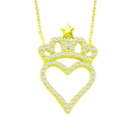 Else Silver Sarı Kalbimin Tacı Kolye