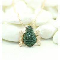 Else Silver Yeşil Kurbağa Kolye