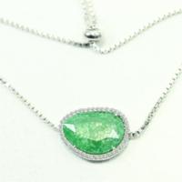 Else Silver Yeşil Taşlı Kedi Gözü Bileklik