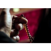 Tesbihci Dede Gürkan Uygunun Gümüş Kamçılı Kehribar Tesbihi