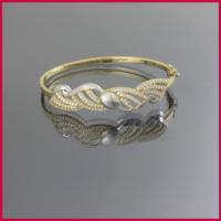 Tuğrul Kuyumculuk Taşlı Kelepçe Altın Bilezik T016578