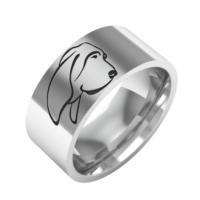 Ashyl Bloodhound Köpek Gümüş Alyans