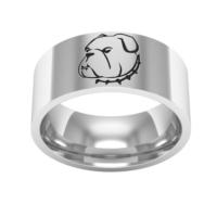 Ashyl Bulldog Köpek Gümüş Alyans